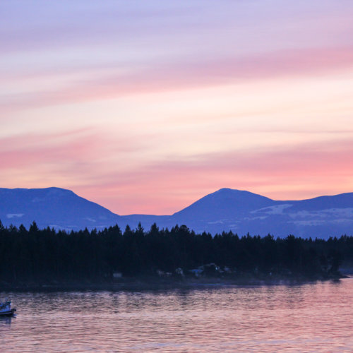 Nanaimo fishing boat, sunset